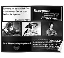 SUPERMAN COLLAGE B/W Poster