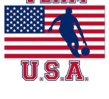 Basketball Dribble American Flag Team USA by kwg2200