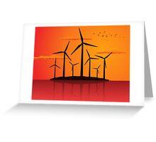 Wind power2 Greeting Card