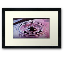 hydrophobic finger By Ken Killeen Framed Print