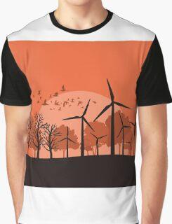 Wind power3 Graphic T-Shirt