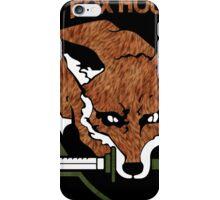 Fox hound logo 2.01 (fox pattern) iPhone Case/Skin
