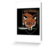 Fox hound logo 2.01 (fox pattern) Greeting Card