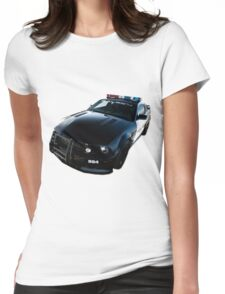 Ford Mustang Saleen Police Car Womens Fitted T-Shirt