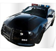 Ford Mustang Saleen Police Car Poster