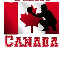 Baseball Catcher Canadian Flag Team Canada by kwg2200