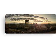Panoramic Sunset Over Edinburgh, Scotland Canvas Print