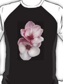 tulip magnolia twins (black bg) T-Shirt
