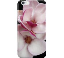 tulip magnolia twins (black bg) iPhone Case/Skin