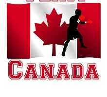 Boxing Canadian Flag Team Canada by kwg2200