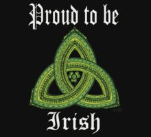 Irish Pride Clover Trinity for Dark Ts and Products by Marcia  Connell-Smith