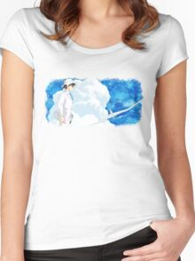 The Wind Rises 風立ちぬ Women's Fitted Scoop T-Shirt