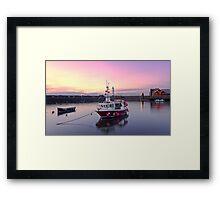 Sunset, Newhaven Harbour. Edinburgh Framed Print