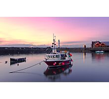 Sunset, Newhaven Harbour. Edinburgh Photographic Print