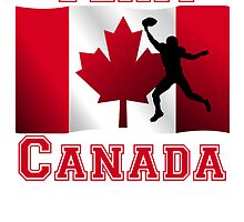 Football Wide Receiver Canadian Flag Team Canada by kwg2200