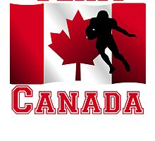 Football Running Back Canadian Flag Team Canada by kwg2200