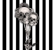 Gothic Youth Skulls with Poppies by KristyPatterson