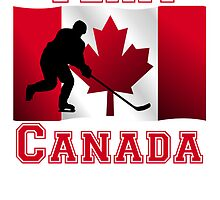 Hockey Canadian Flag Team Canada by kwg2200