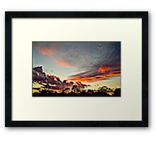 Sky at night Framed Print