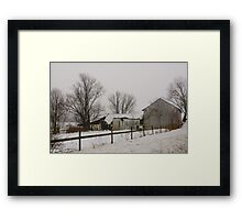 Winters Gloom Framed Print