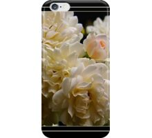 white roses and a light pink bud (square) iPhone Case/Skin