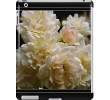 white roses and a light pink bud (square) iPad Case/Skin