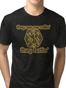 d20 geek Tri-blend T-Shirt