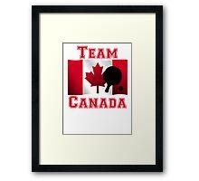 Table Tennis Canadian Flag Team Canada Framed Print