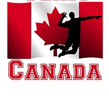 Volleyball Spike Canadian Flag Team Canada by kwg2200