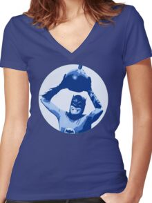 Da bomb! Women's Fitted V-Neck T-Shirt
