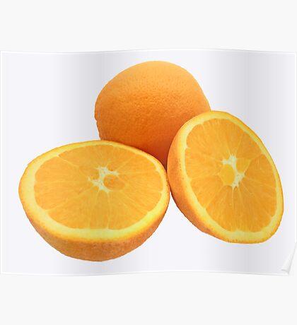 Sliced Oranges Poster