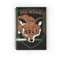 Fox Hound logo 2.0  Spiral Notebook