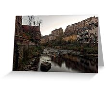 Dean Village Sunrise, Water of Leith Greeting Card