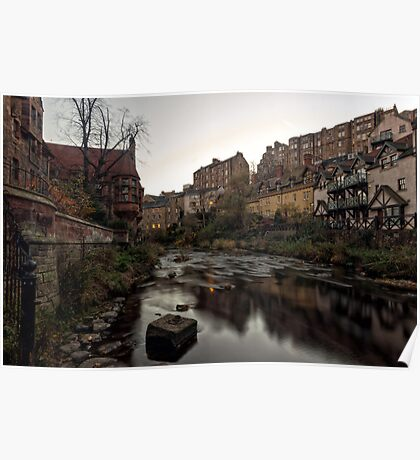 Dean Village Sunrise, Water of Leith Poster
