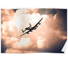 Heading for cloud cover Poster