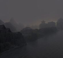 Village in the fog by Simone De Salvatore
