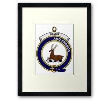 Blair Clan Badge Framed Print