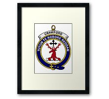 Crawford Clan Badge Framed Print