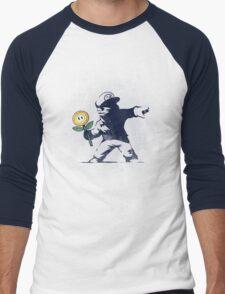 Banksy flower Men's Baseball ¾ T-Shirt