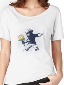 Banksy flower Women's Relaxed Fit T-Shirt