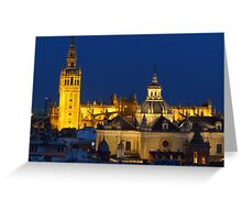 Seville At Night Greeting Card