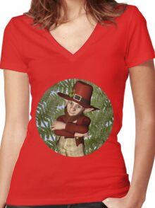 Leprechaun Women's Fitted V-Neck T-Shirt