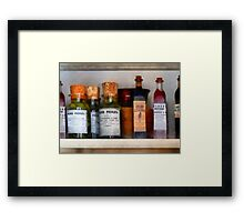 Pickles, Ketchup and Worcestershire Sauce Framed Print