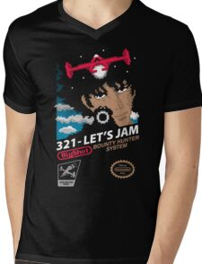 321 - Let's Jam Mens V-Neck T-Shirt