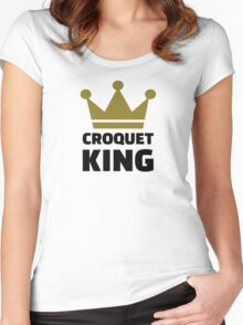 Croquet king champion Women's Fitted Scoop T-Shirt