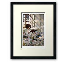 Reading Girl Framed Print