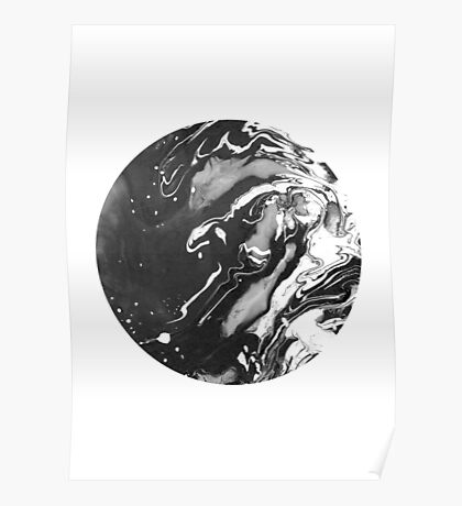 ink black and white Poster