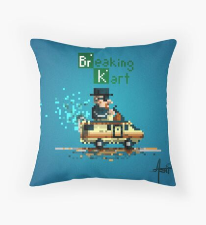 Breaking Kart Throw Pillow