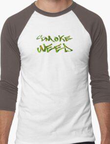 Smoke Weed (Weed Window) Men's Baseball ¾ T-Shirt