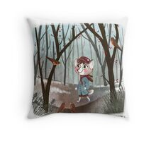 Welcoming Spring Throw Pillow